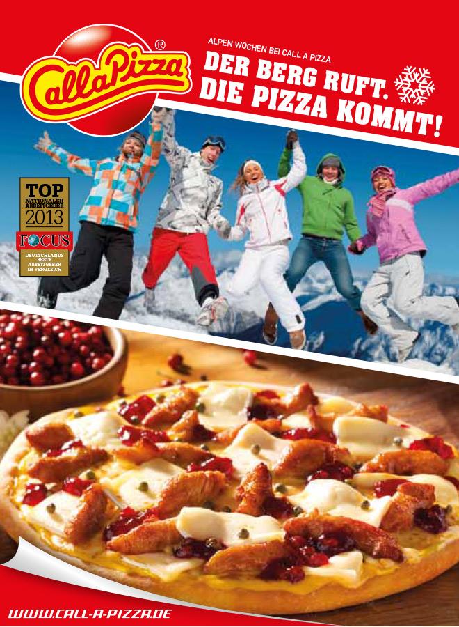 Der Berg ruft. Die Pizza kommt.
