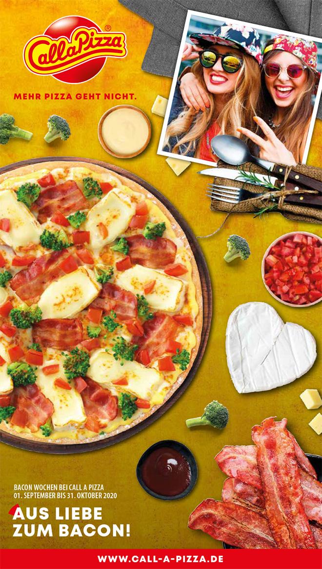 Call a Pizza Bacon Wochen - Aus Liebe zum Bacon!