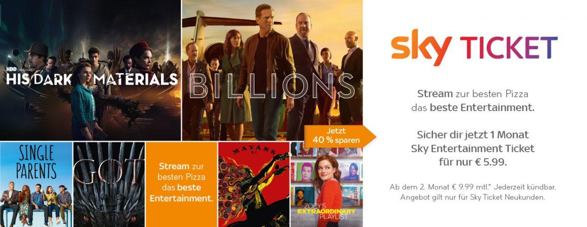 JETZT BEI CALL A PIZZA BESTELLEN UND Sky Entertainment Ticket SICHERN!